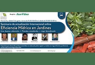 Seminario de actualización Internacional Eficiencia Hídrica en jardines