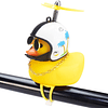 wonuu Rubber Duck Toy Car Ornaments Yellow Duck Car Dashboard Decorations Squeeze Duck Bicycle Horns with Propeller Helmet