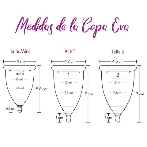 Copa Menstrual Eva - Talla 1