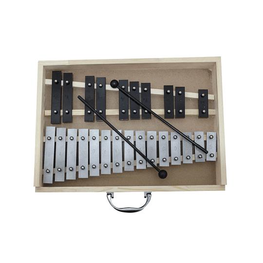 Metalofono 22 notas cromado Nutech 7651
