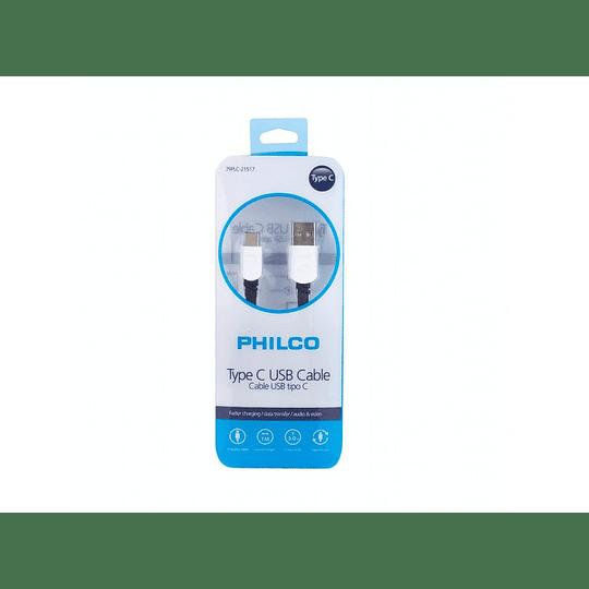 Cable USB-C Philco carga rapida