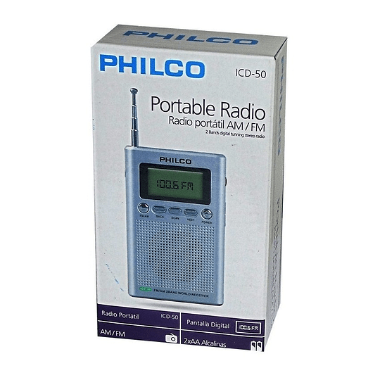 Radio Portátil Digital Philco, AM-FM