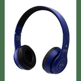 Audifono bluetooth plc623 azul
