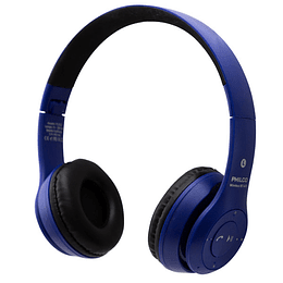 Audifono bluetooth plc623 azul