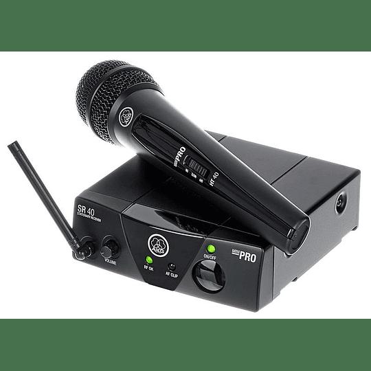 Sistema de Micrófono Inalambrico AKG WMS40 Mini