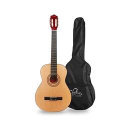 "Guitarra acustica Sevillana con funda 39"" 8446"