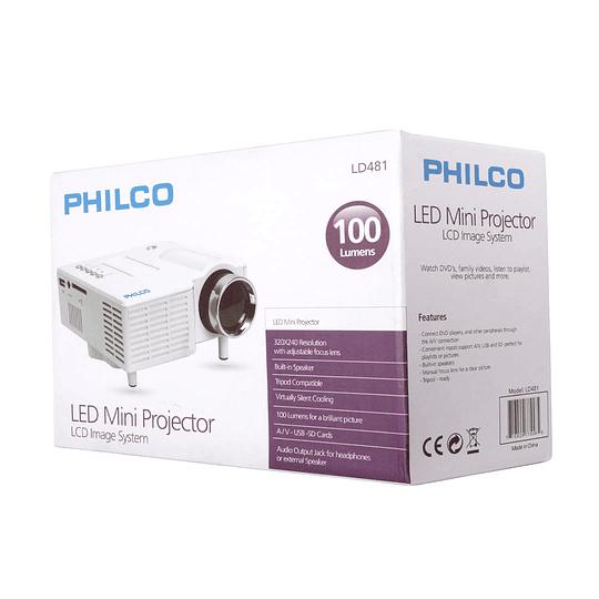 Miniproyector Led 100 lumens LD481 Philco