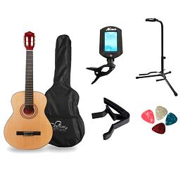 Pack de guitarra clasica mas accesorios