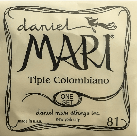 Cuerdas Tiple Colombiano Daniel Mari