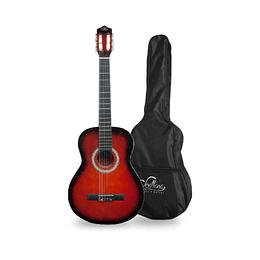 "Guitarra acustica Sevillana con funda 39"" 8447"