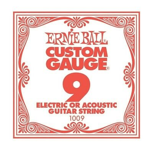 Cuerda Suelta Ernie Ball 009 Guitarra Electrica / Acustica