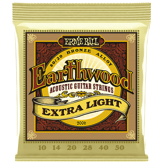 Ernie Ball 2006 Earthwood 80/20 Bronze Acoustic Extra Light 10-50