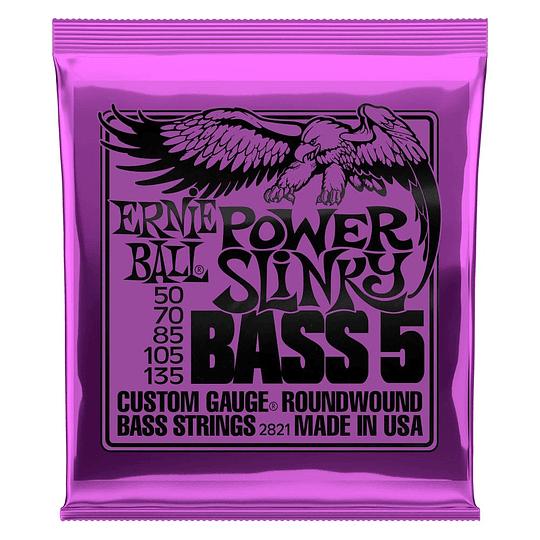 Ernie Ball 2821 Nickel Wound Bass Power Slinky 50-135