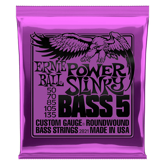 Ernie Ball 2821 Nickel Wound Bass Power Slinky 50-135