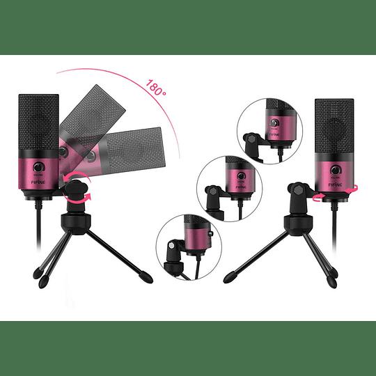 Microfono Usb K669b Purple Pc/ps4
