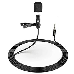 Microfono lavalier para PC, smartphones (Iphone y android) y camaras reflex