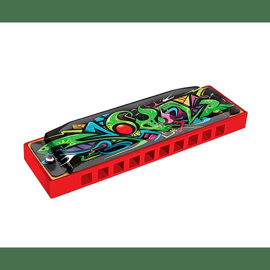 Armonica 10 tonos en DO Hohner roja