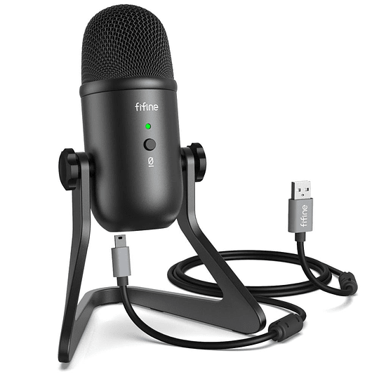 Microfono condensador de estudio usb fifine k678b pro hifi