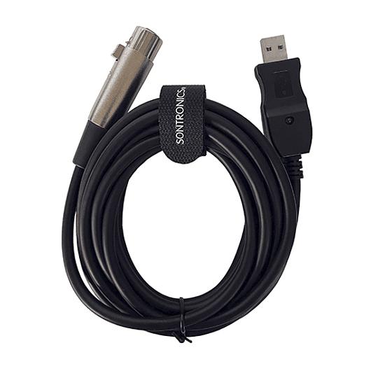 Cable Adaptador de XLR a USB Sontronics para PC Windows o iOS