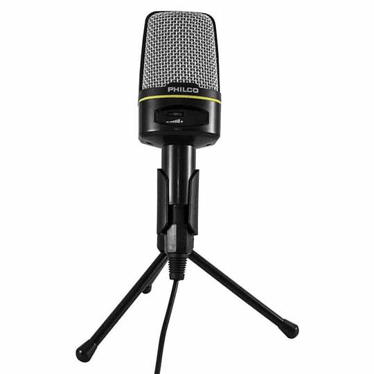 Micrófono condensador gamer/streamer con trípode GM100