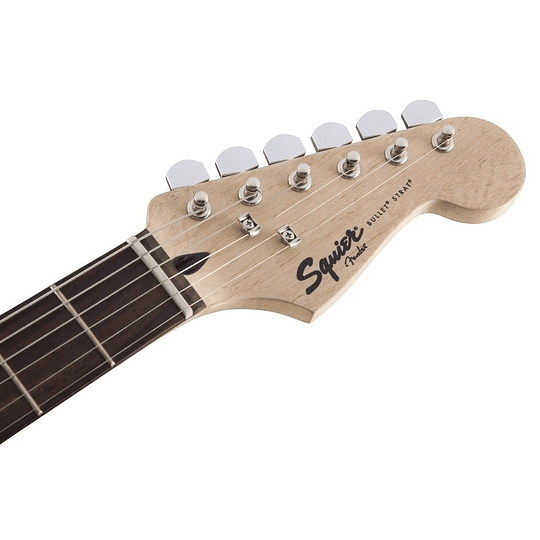 Guitarra electrica Squier strat bullet blanca