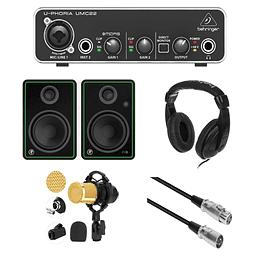 Pack homestudio Umc22 mas accesorios