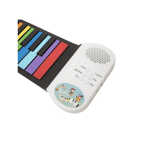 Piano Roll Flexible 49 Notas Colores