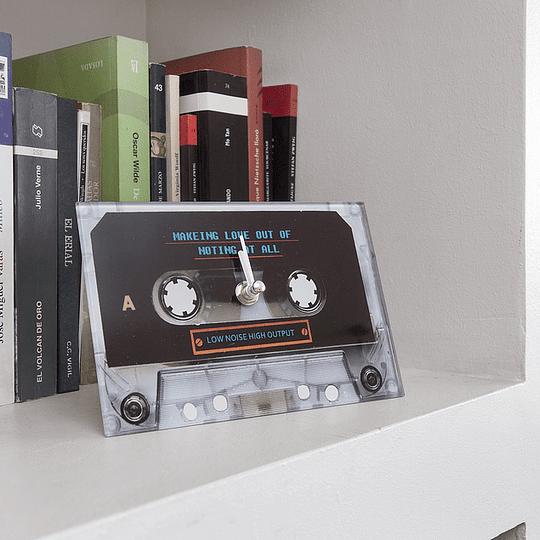 Reloj decorativo Cassette 2 Negro