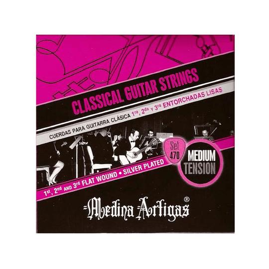 Cuerdas para guitarra clasica Medina Artigas 470