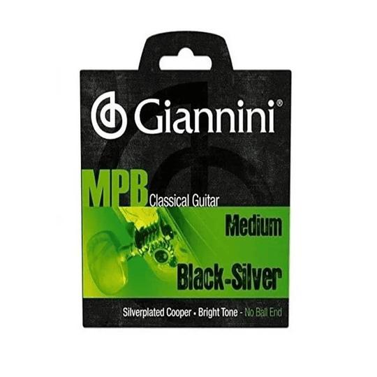 Cuerdas para guitarra clasica Giannini Black Silver GENWBS
