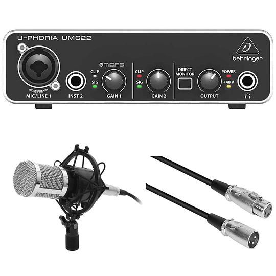 Pack Interfaz De Audio Umc22