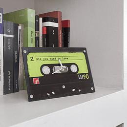 Reloj decorativo Cassette 1 Verde