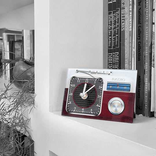 Reloj decorativo Radio 2 Rojo