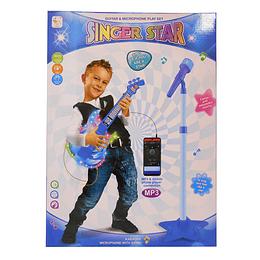 Microfono y guitarra para niños EVZ