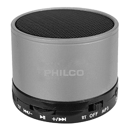 Parlante portatil bluetooth P295 plata Philco