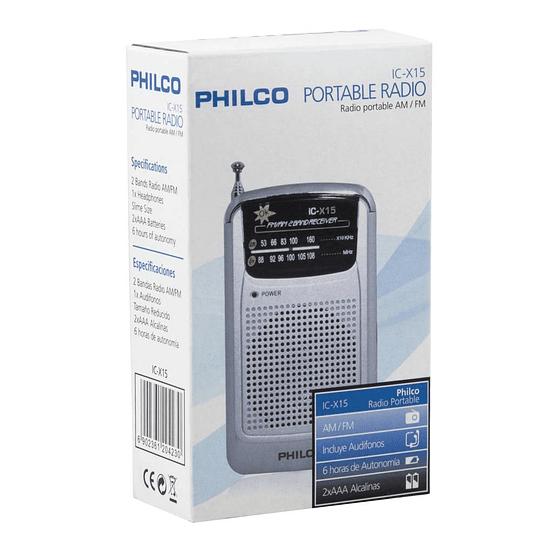 Radio portatil Philco ICX15