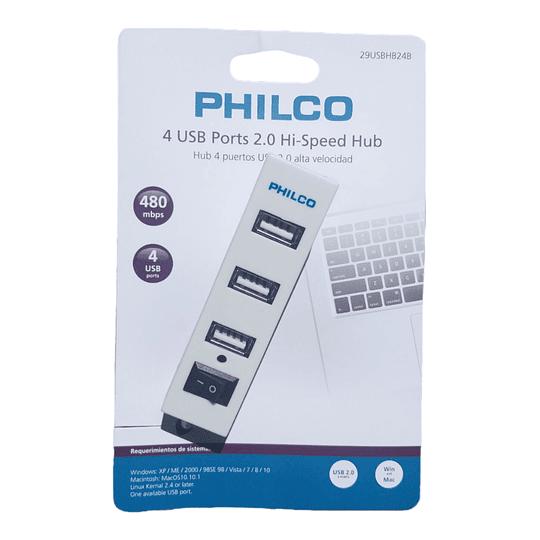 Hub usb 4 puertos 2.0 Philco