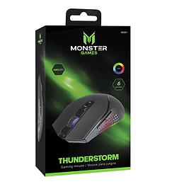 Mouse Gamer Monster Thunderstorm RGB 6400 DPI 1.6m Negro