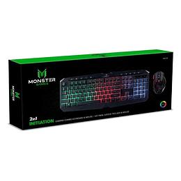 Kit Gamer Mouse Teclado Monster Crew Initiation