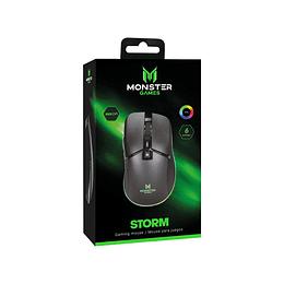 Mouse Gamer Monster Storm Rgb 6 Botones 8000 Dpi 1.5m