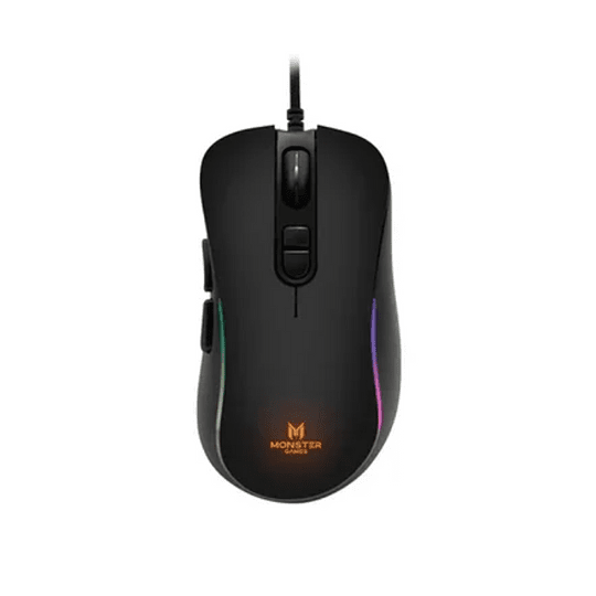 Mouse Gamer Monster Bold RGB 8000 DPI 1.5m Negro