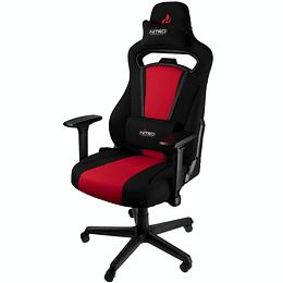 Silla gamer profesional E250 rojo con negro Nitro