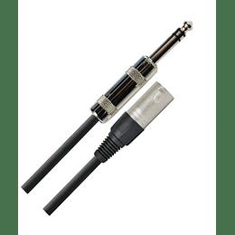 Cable XLR Macho a Plug 1/4 TRS 6 Mts