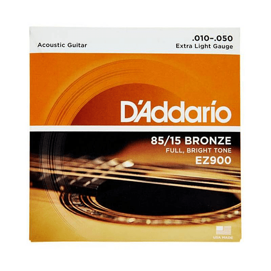 Daddario EZ900 Set Cuerdas Guitarra Acustica/Folk 10-50