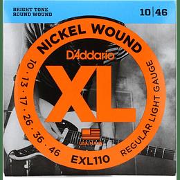 Daddario EXL110 Set Cuerdas Guitarra Electrica 10-46