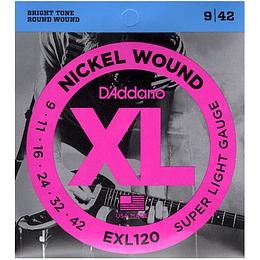 Daddario EXL120 Set Cuerdas Guitarra Electrica 09-42