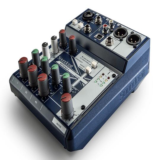Soundcraft Soundcraft Notepad5 Interfaz/Mezclador 5 Canales con USB