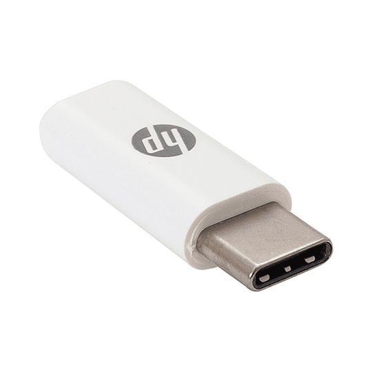Adaptador Dongle HP, Micro USB Hembra a USB-C Macho