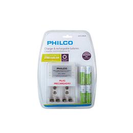 Cargador para 4 pilas AA 2700 MAH Philco