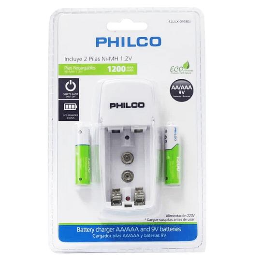 Cargador para 2 pilas AA 2700 MAH Philco